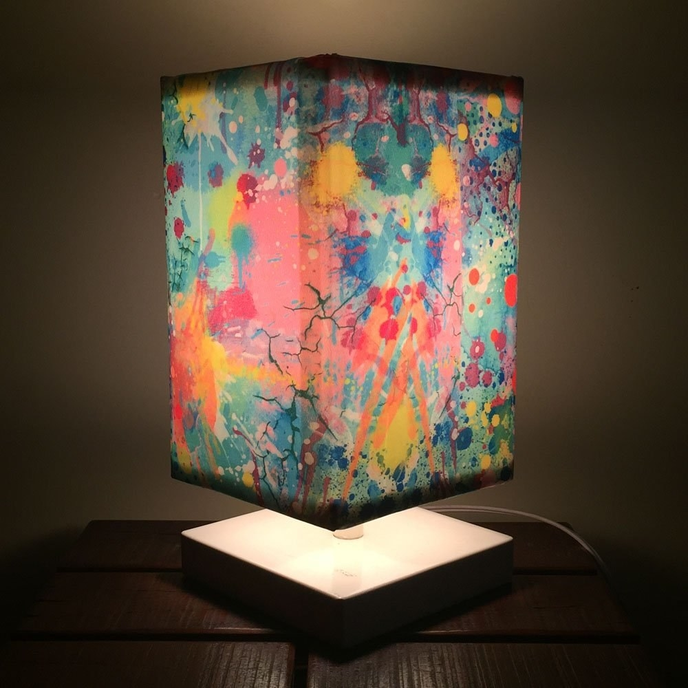 The water colour lamp lit up