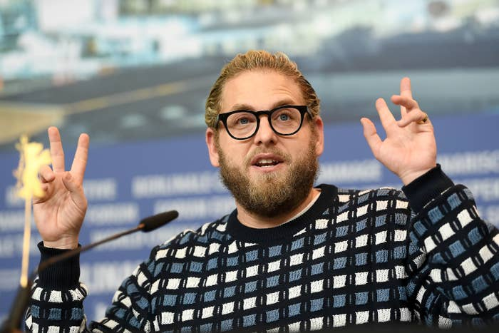 """Jonah Hill attends the """"Mid '90s"""" press conference during the 69th Berlinale International Film Festival at Grand Hyatt Hotel on February 10, 2019, in Berlin, Germany"""