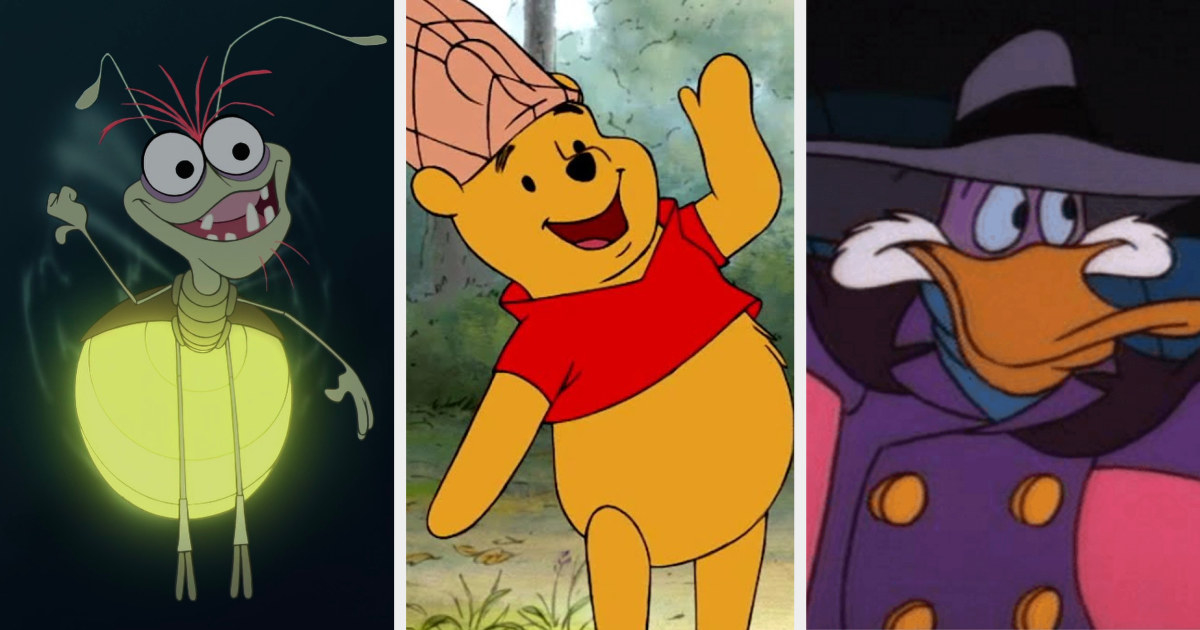 Ray, Pooh, and Darkwing Duck