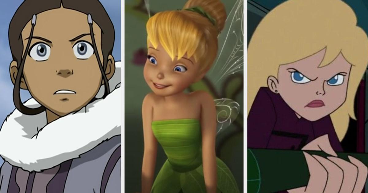 Katara, Tinkerbell, and Rose