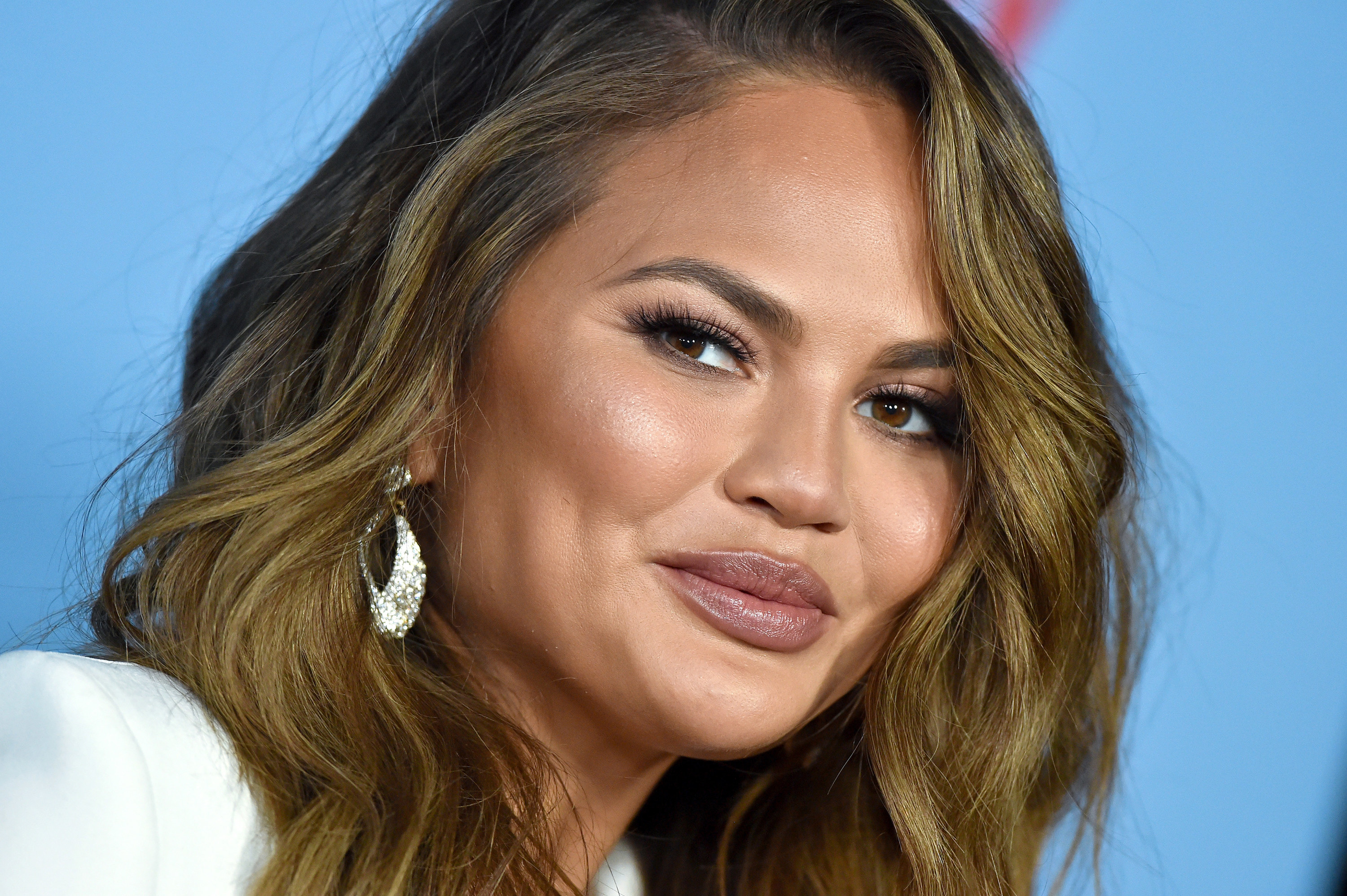 """Chrissy Teigen attends the LA Premiere of Netflix's """"Between Two Ferns: The Movie"""" at ArcLight Hollywood on September 16, 2019, in Hollywood, California"""