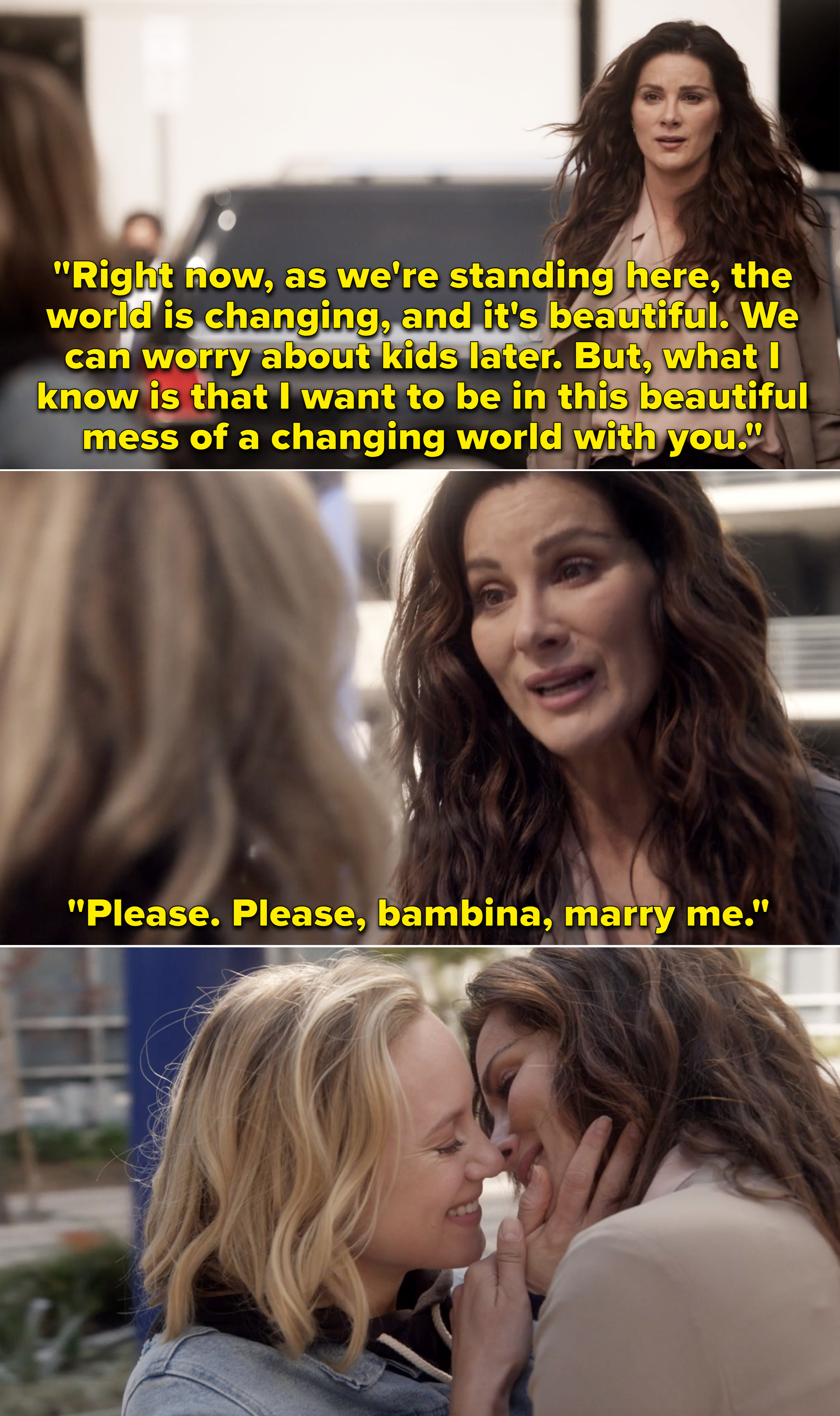 """Carina telling Maya she wants to be in this """"beautiful mess of changing world"""" with her"""