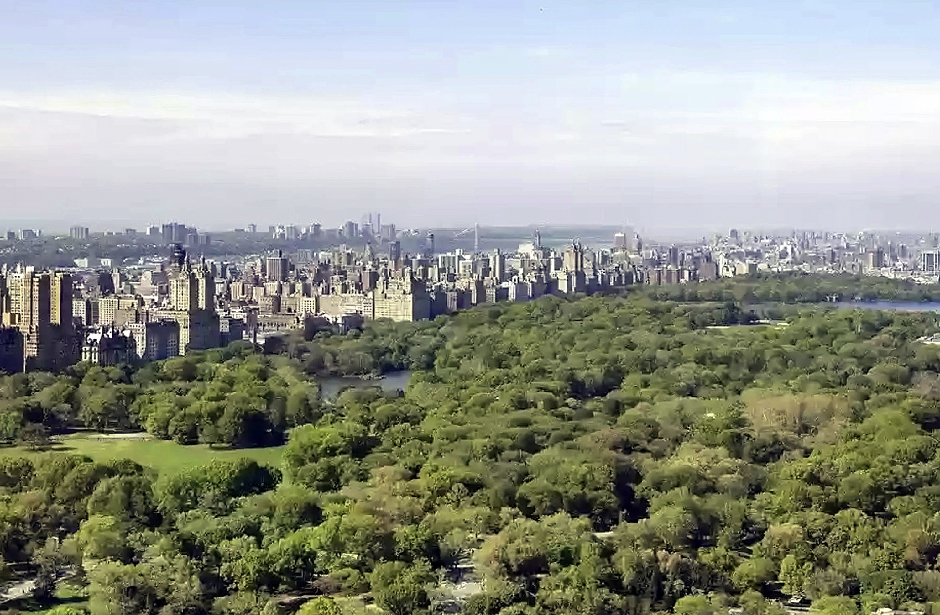 A clear view of Central Park