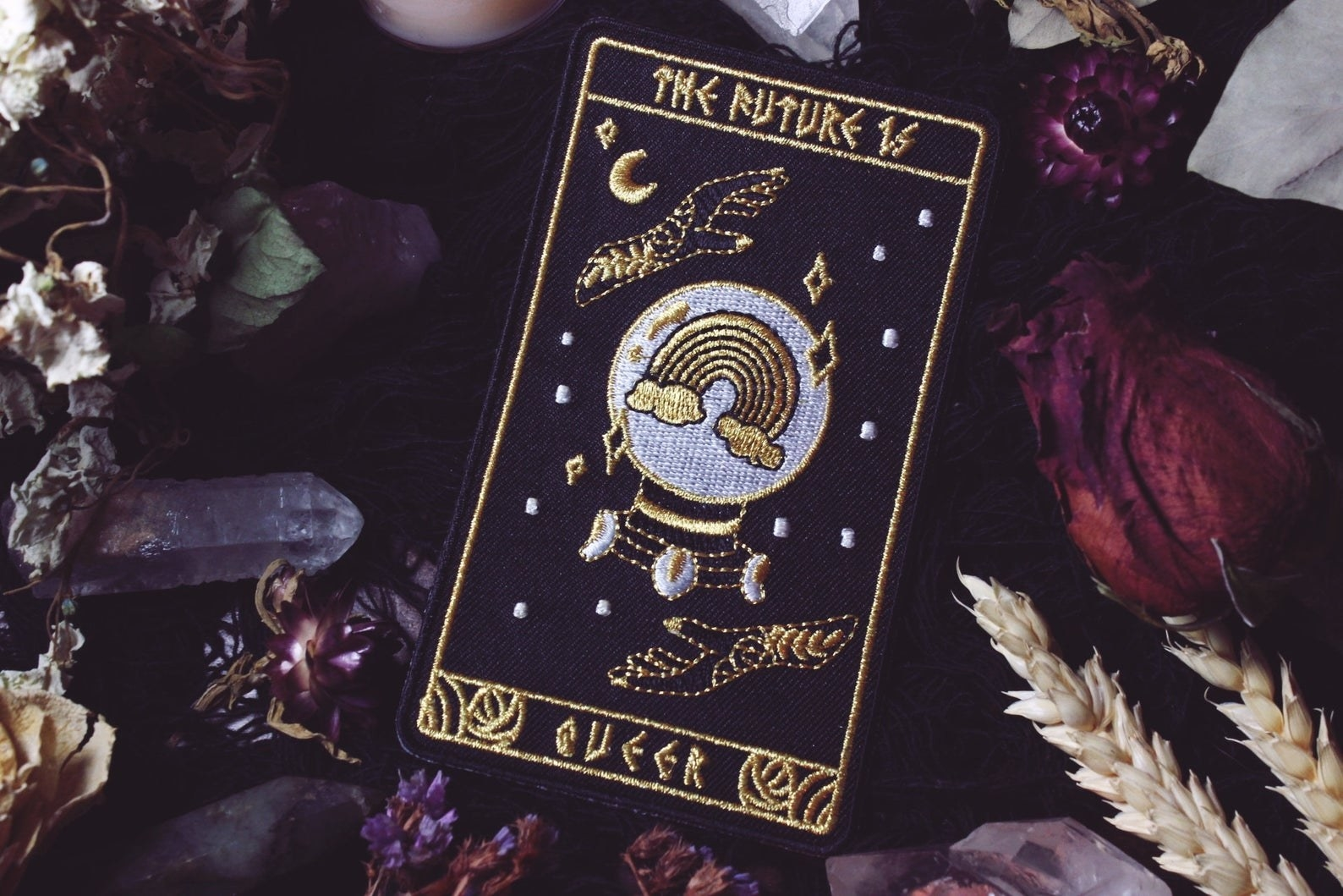 the future is queer tarot patch