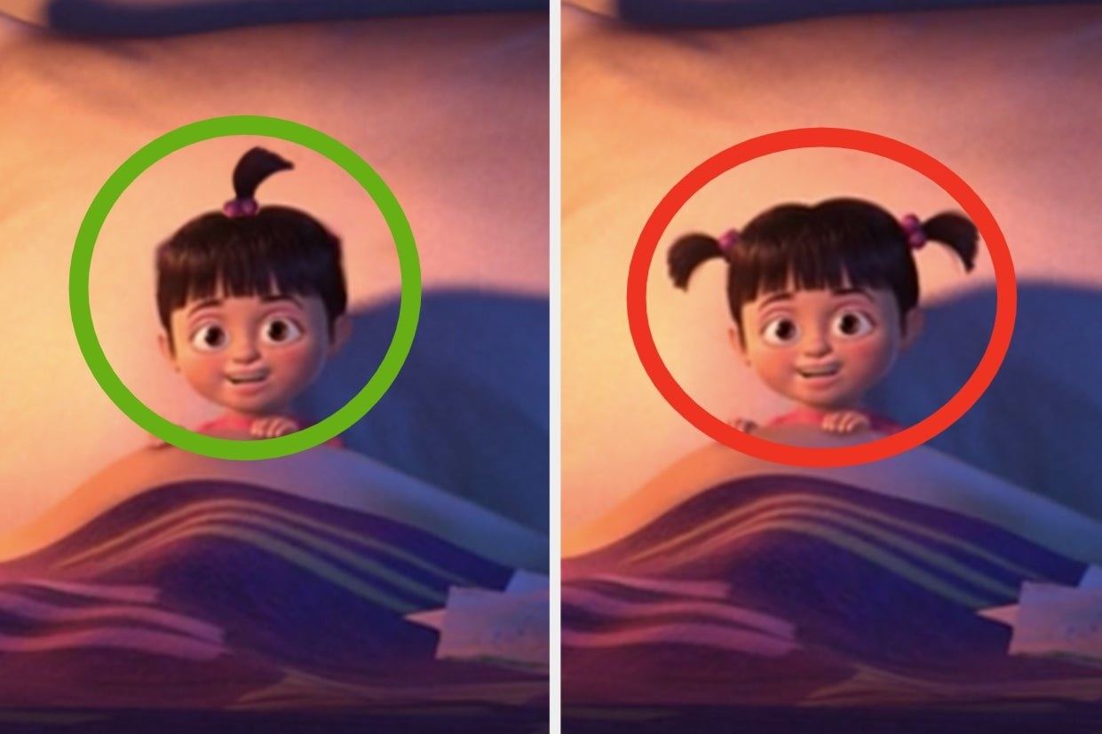 """Boo from """"Monster's Inc."""" with one ponytail or two pigtails"""