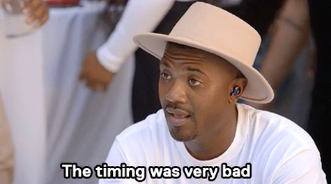 """Ray J saying, """"The timing was very bad"""""""