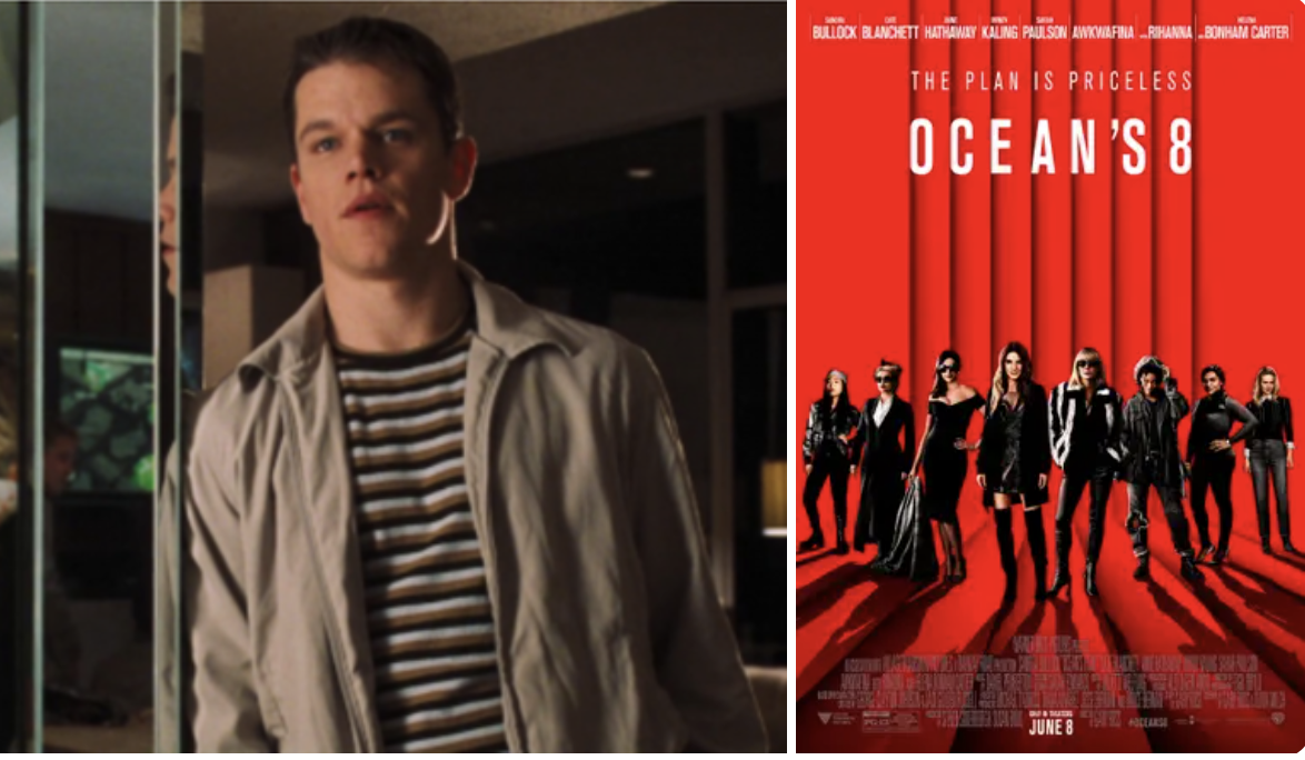 Matt Damon and the oceans 8 poster