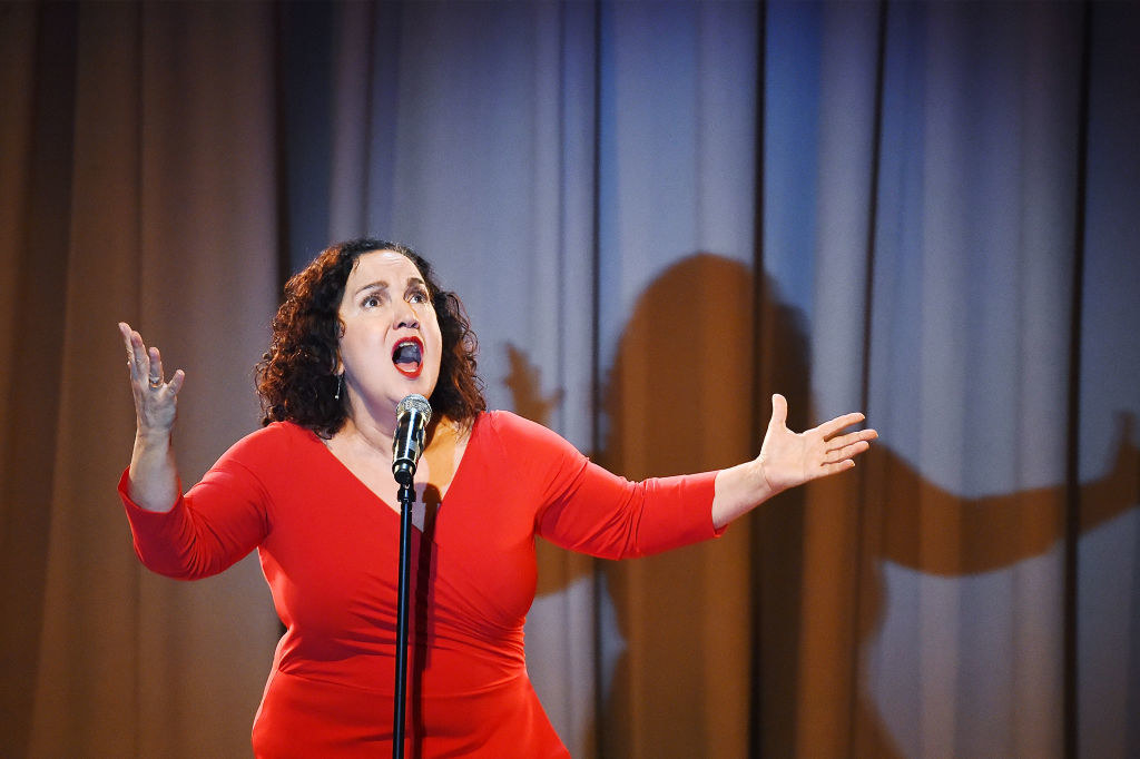 Olga Merediz performs at the Concert For America: Stand Up, Sing Out! at The Great Hall at Cooper Union