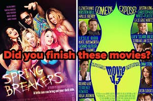 Spring Breakers side by side with Movie 43