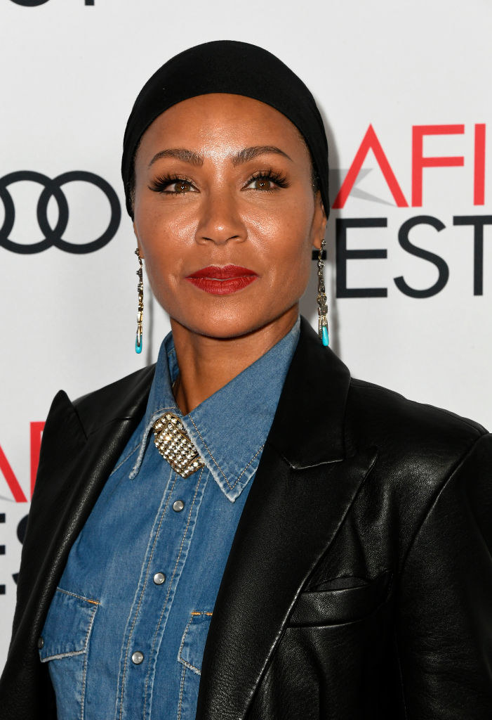 Jada Pinkett Smith looking out towards cameras at an event