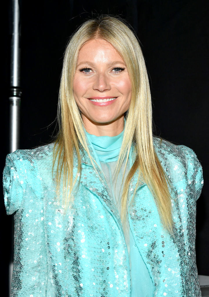 Gwyneth Paltrow smiling in sequins