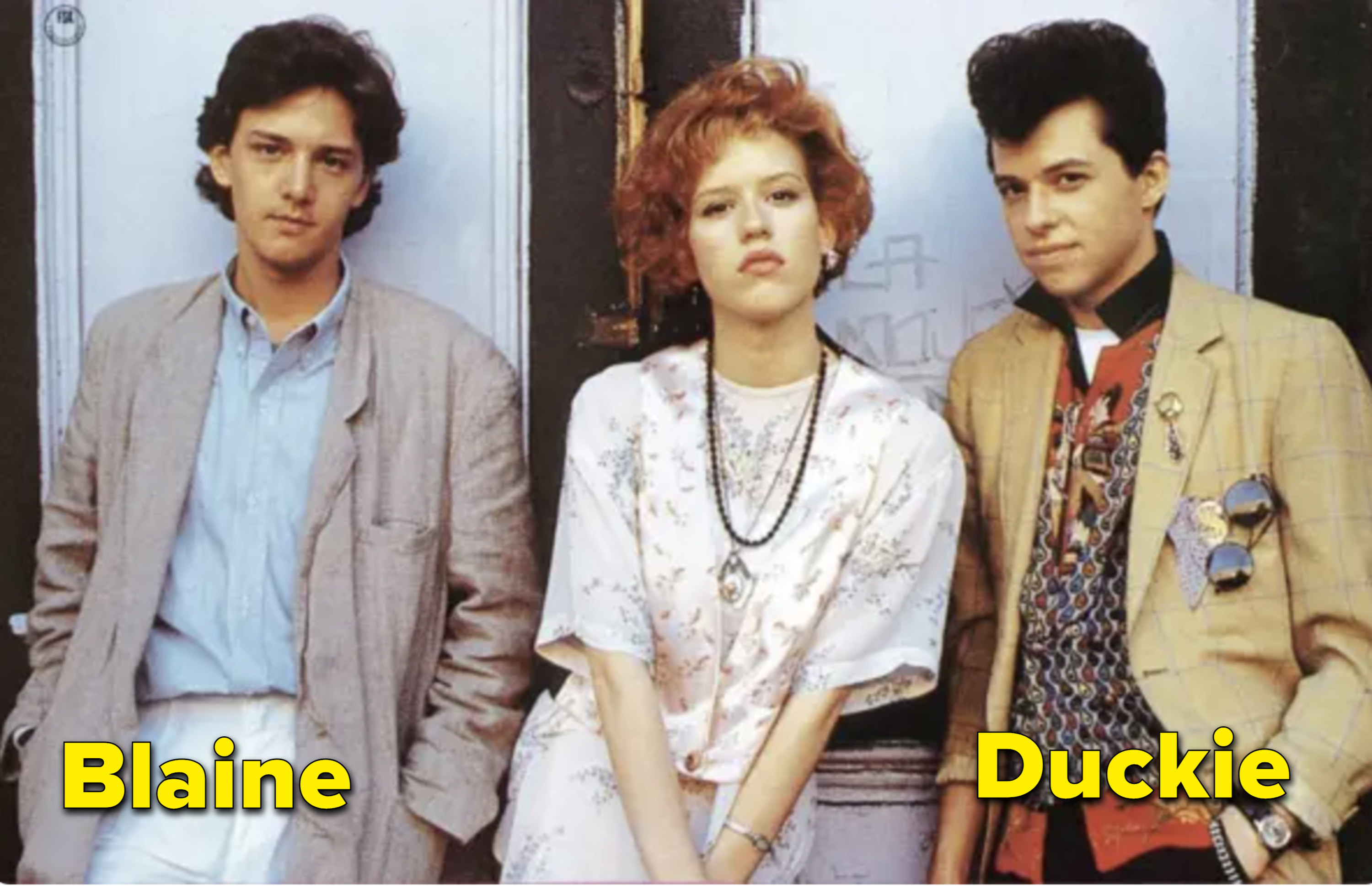 McCarthy, Ringwald, and Cryer looking very 80s in the movie