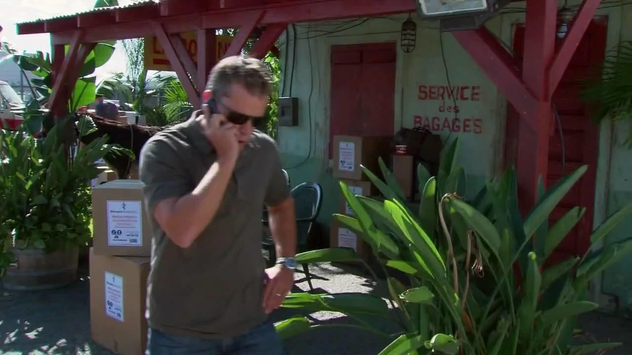 Matt Damon yelling at someone on the phone