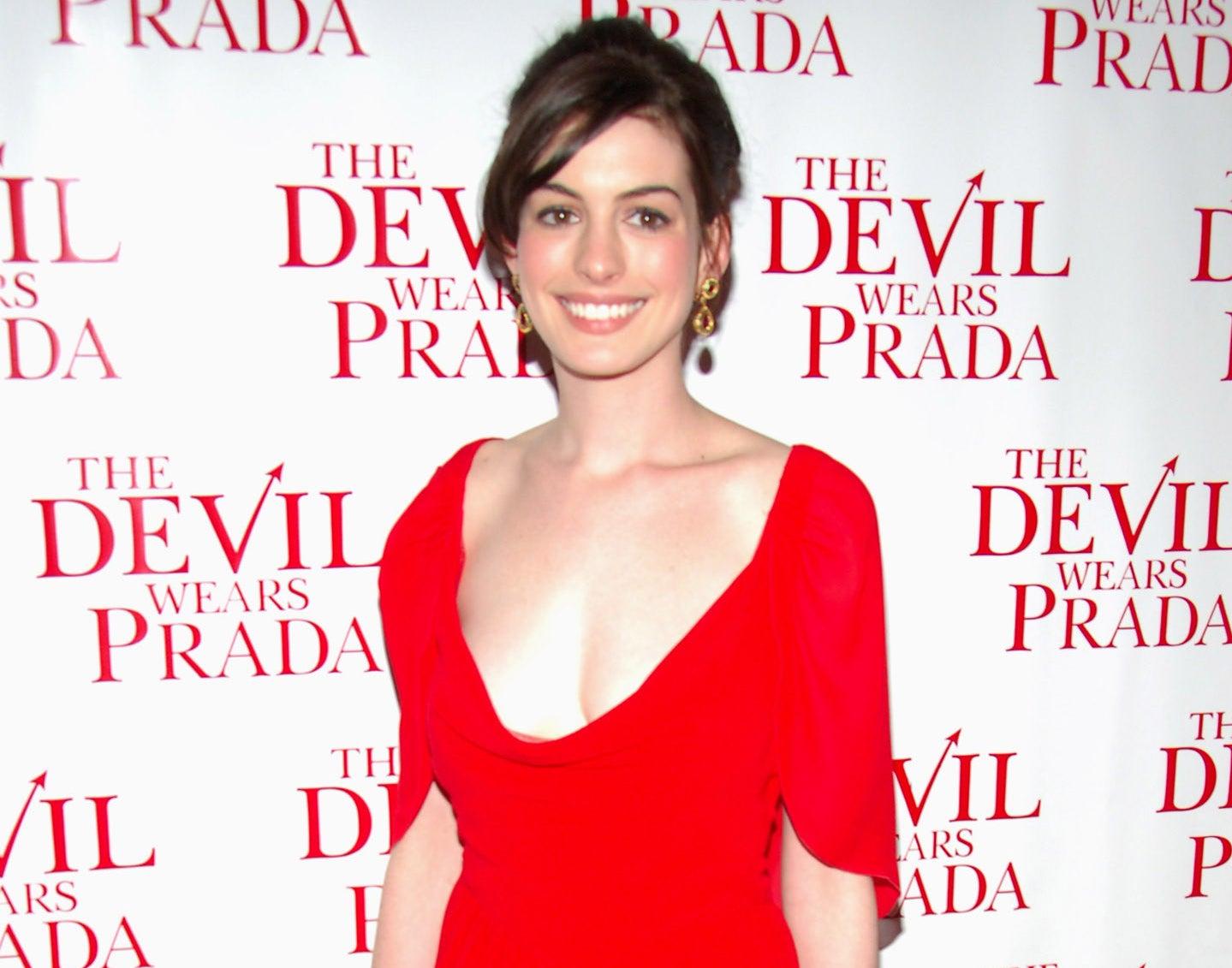 Anne attends the premiere of Devil Wears Prada