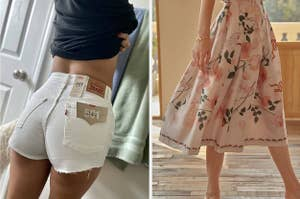 shorts and skirt