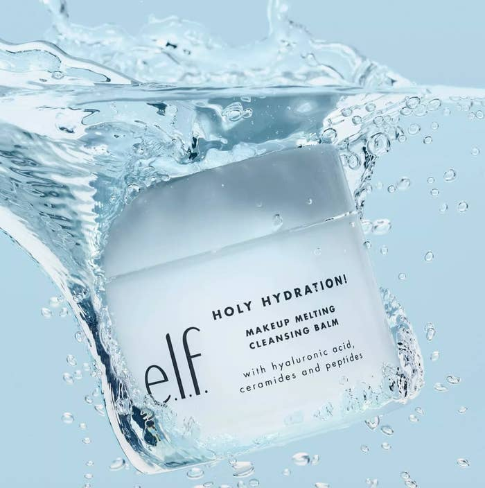 e.l.f. cleansing balm submerged in water