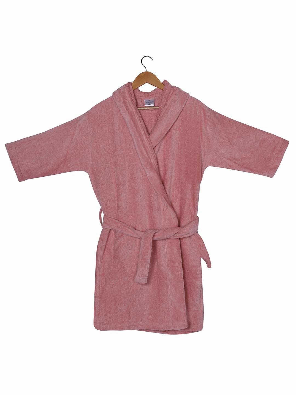 Rose Pink knee length bathrobe