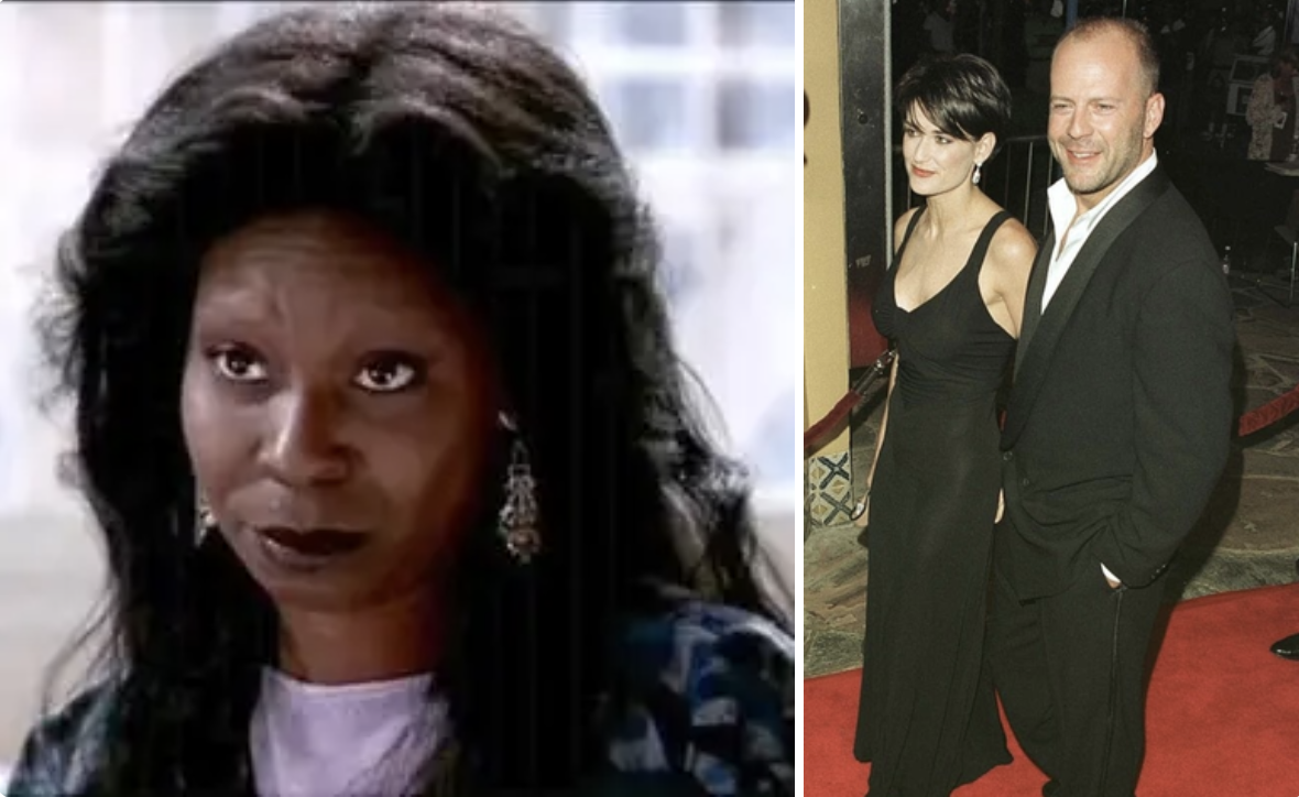 Whoopi as Oda May and Bruce and Demi