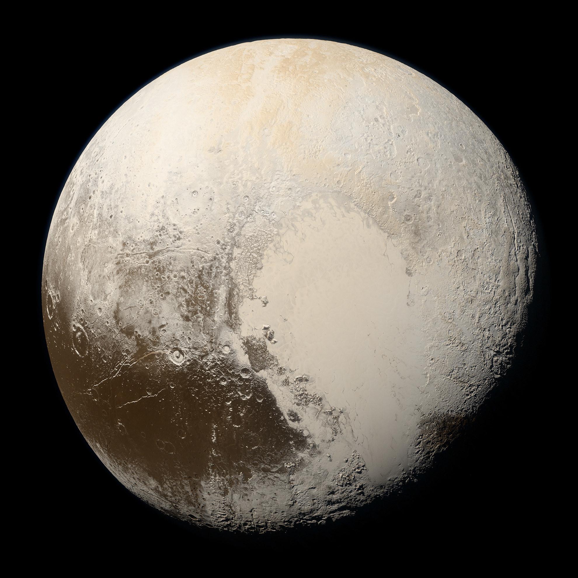 A close-up of Pluto