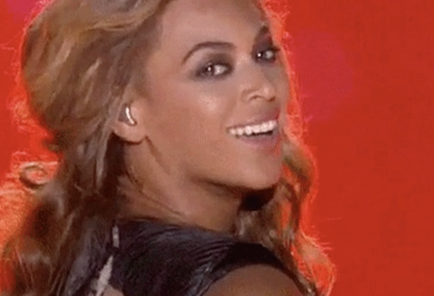 Beyoncé performing at the Super Bowl XLVII halftime show