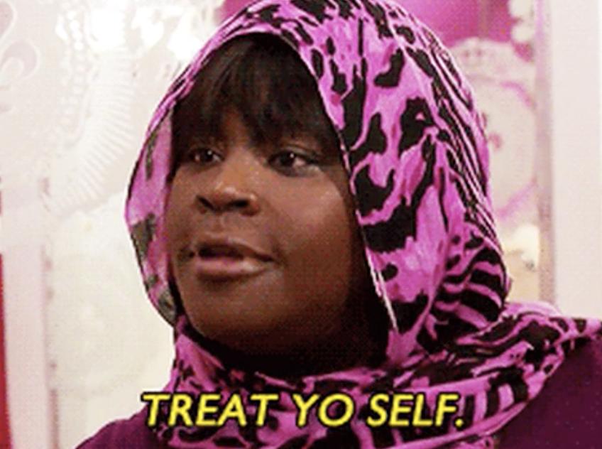 "Retta on ""Parks & Rec"" saying: ""Treat yo self"""