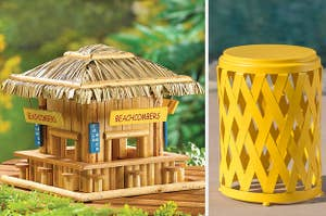 bird house and side table
