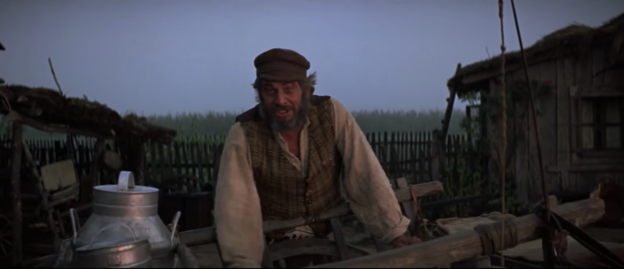"""Tevye during the tradition sequence of """"Fiddler on the Roof"""""""