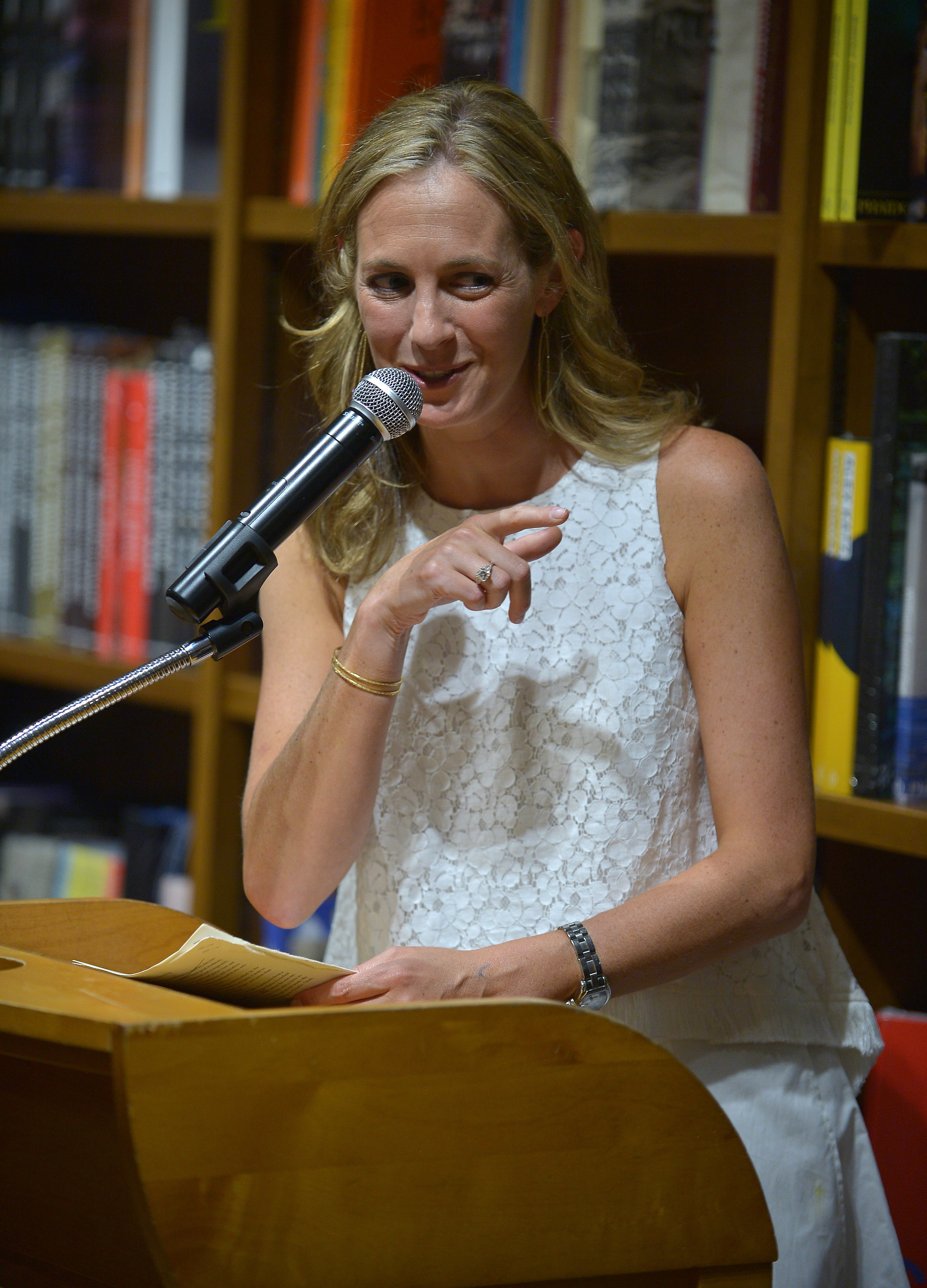 """Author Lauren Weisberger discuss and sign copies of her new book """"The Singles Game"""" at Books and Books on July 19, 2016 in Coral Gables, Florida"""