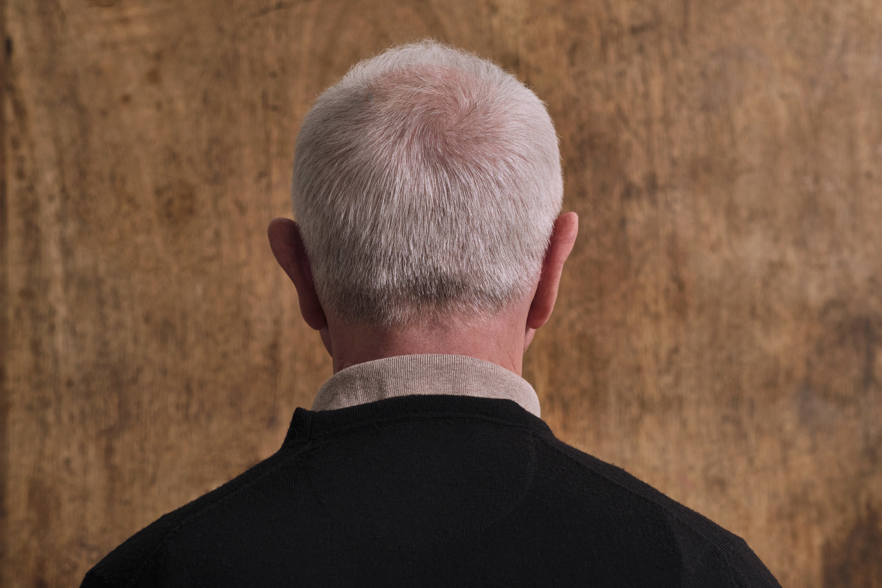 The back of a man's head