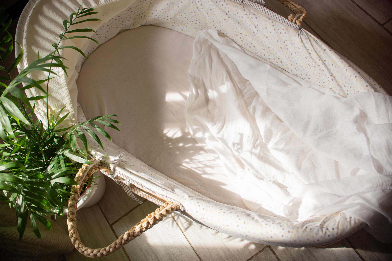 An empty bassinet