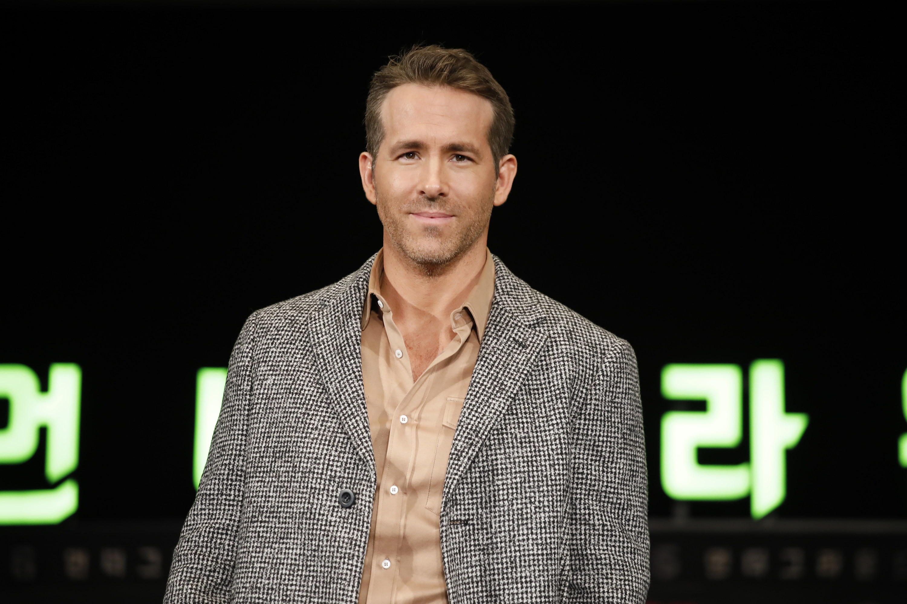 Ryan Reynolds attends the press conference for the world premiere of Netflix's '6 Underground' at Four Seasons Hotel on December 02, 2019 in Seoul, South Korea