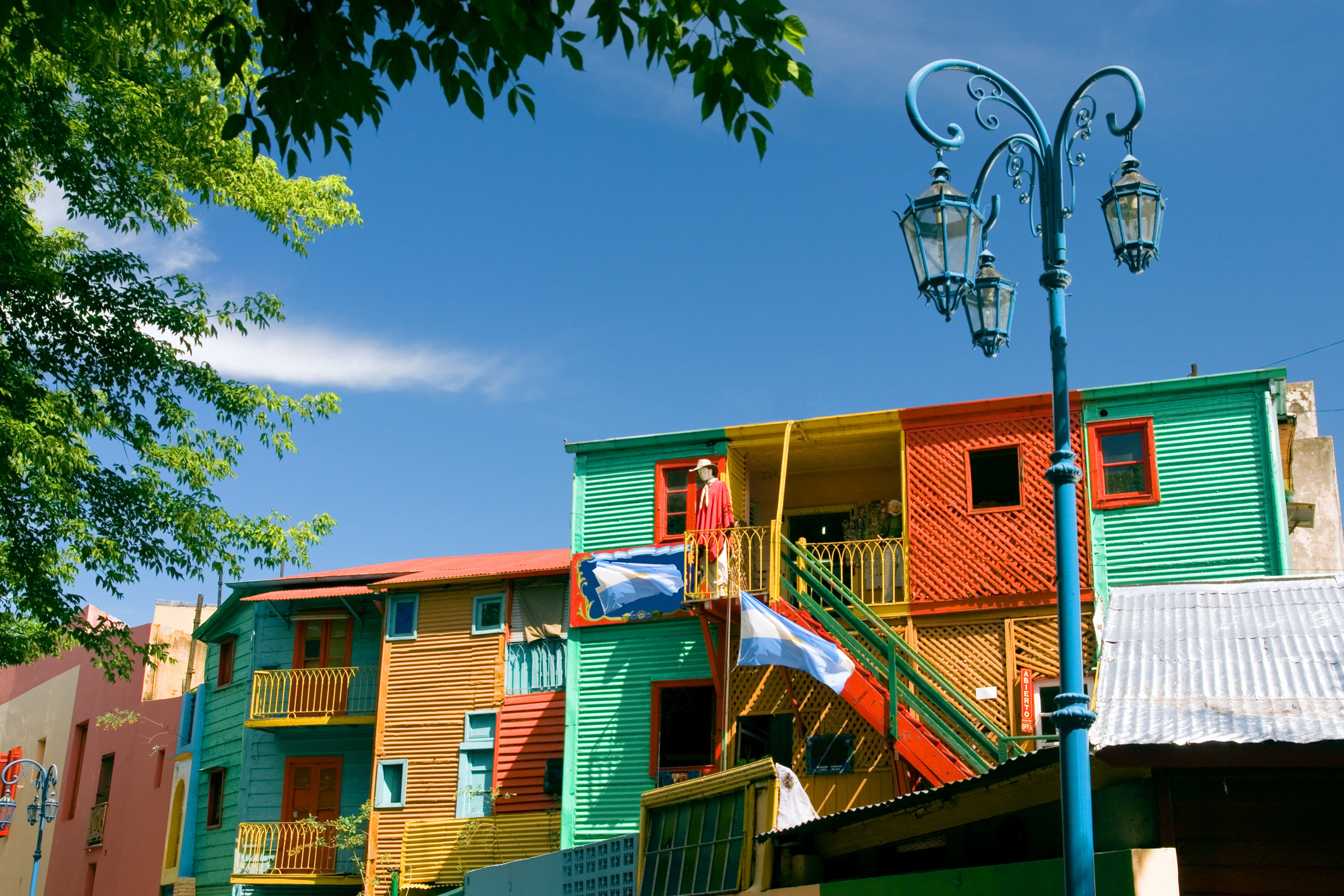 Colorful buildings of Caminito in Buenos Aires