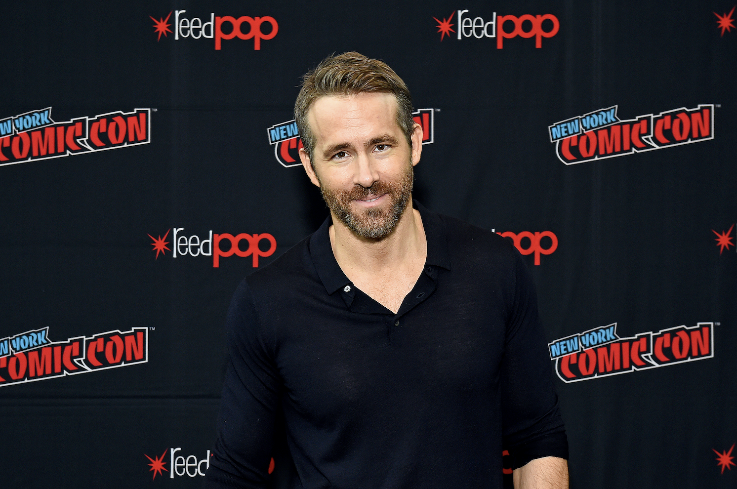 """Ryan Reynolds attends New York Comic Con in support of """"Free Guy"""" at The Jacob K. Javits Convention Center on October 03, 2019 in New York City"""
