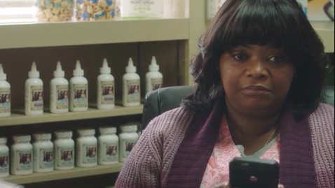 """Sue Ann """"Ma"""" Ellington looking at her phone and waiting from """"Ma"""""""