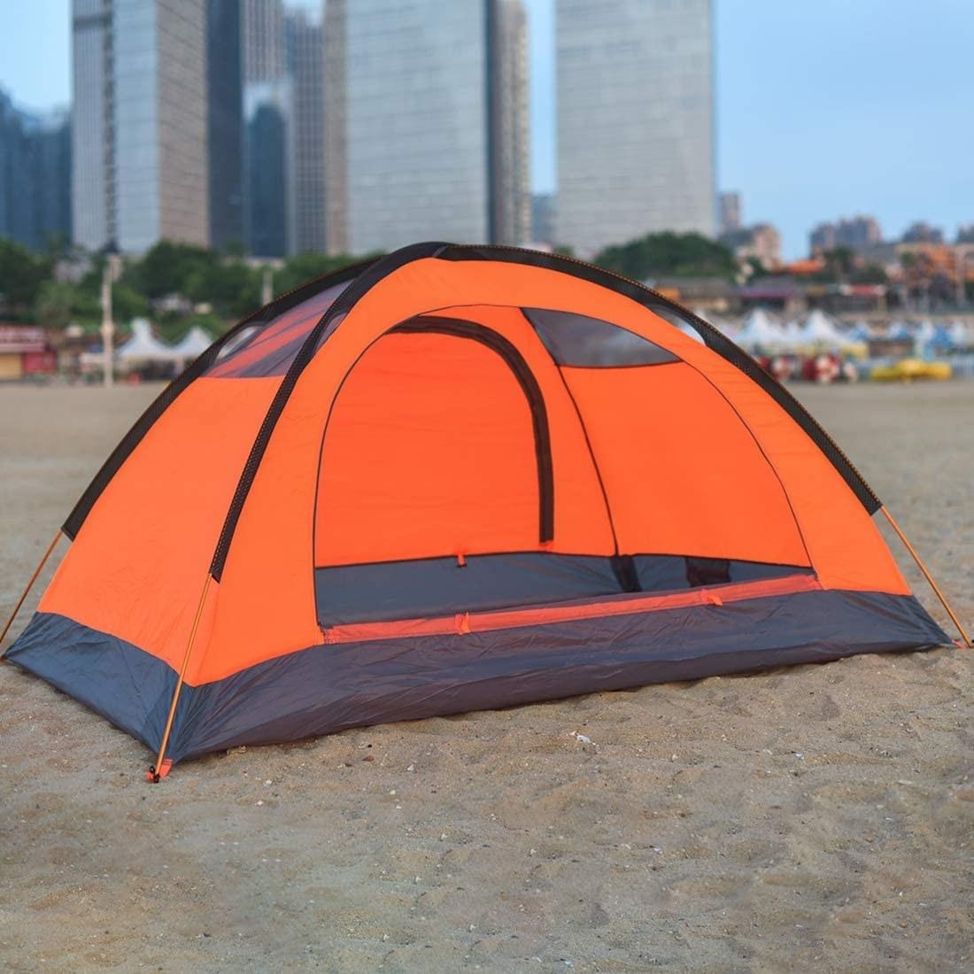 the tent on a beach