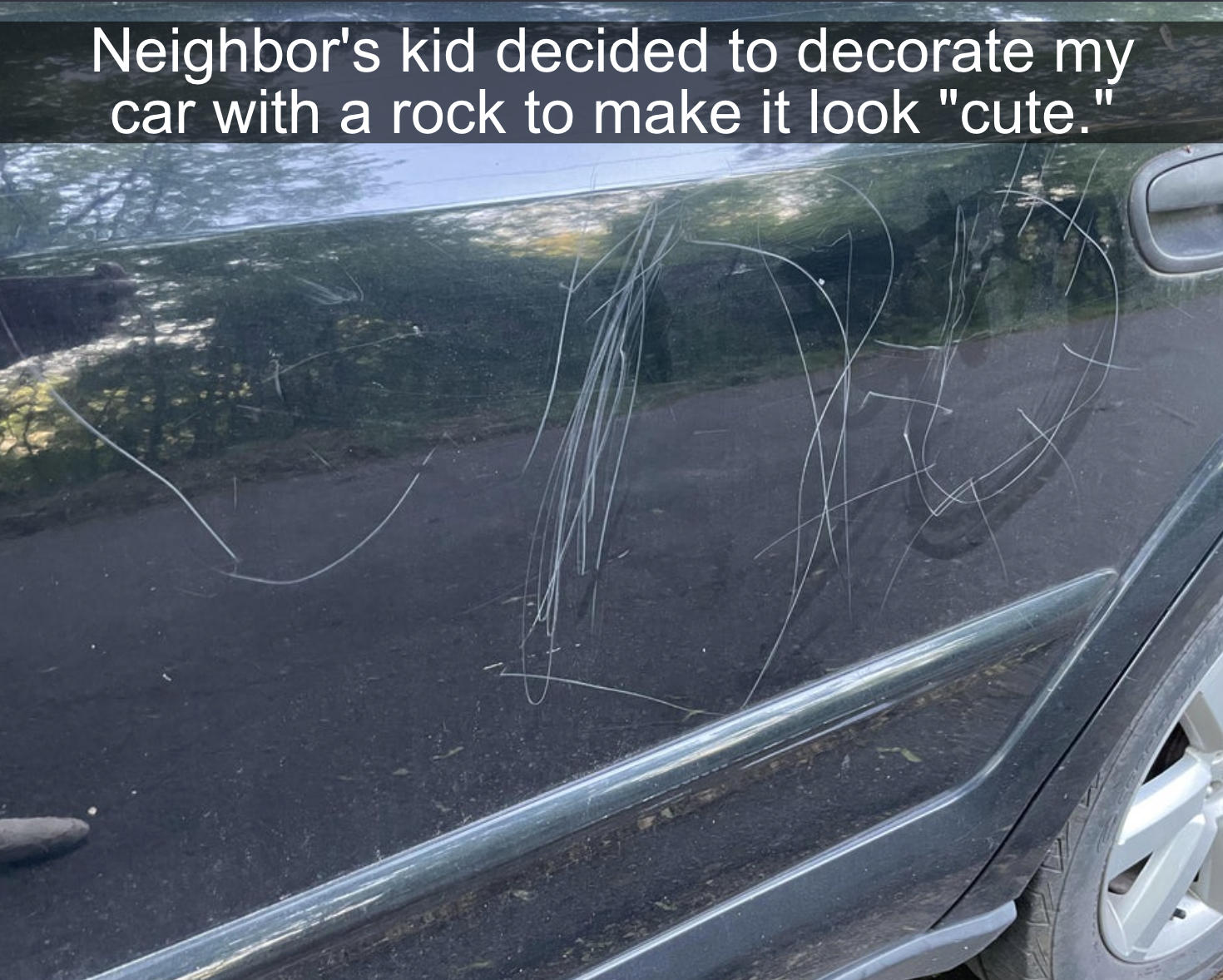 kids who ruined a car with rocks