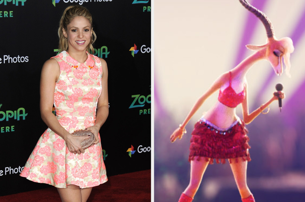 Shakira on the red carpet and as gazelle