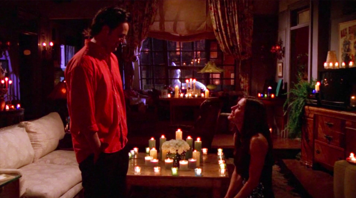"""Monica proposing to Chandler in """"Friends"""""""