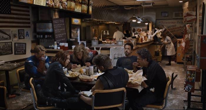 The shawarma scene