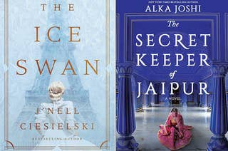 (left) book cover for the ice swan; (right) book cover for the secret keeper of jaipur