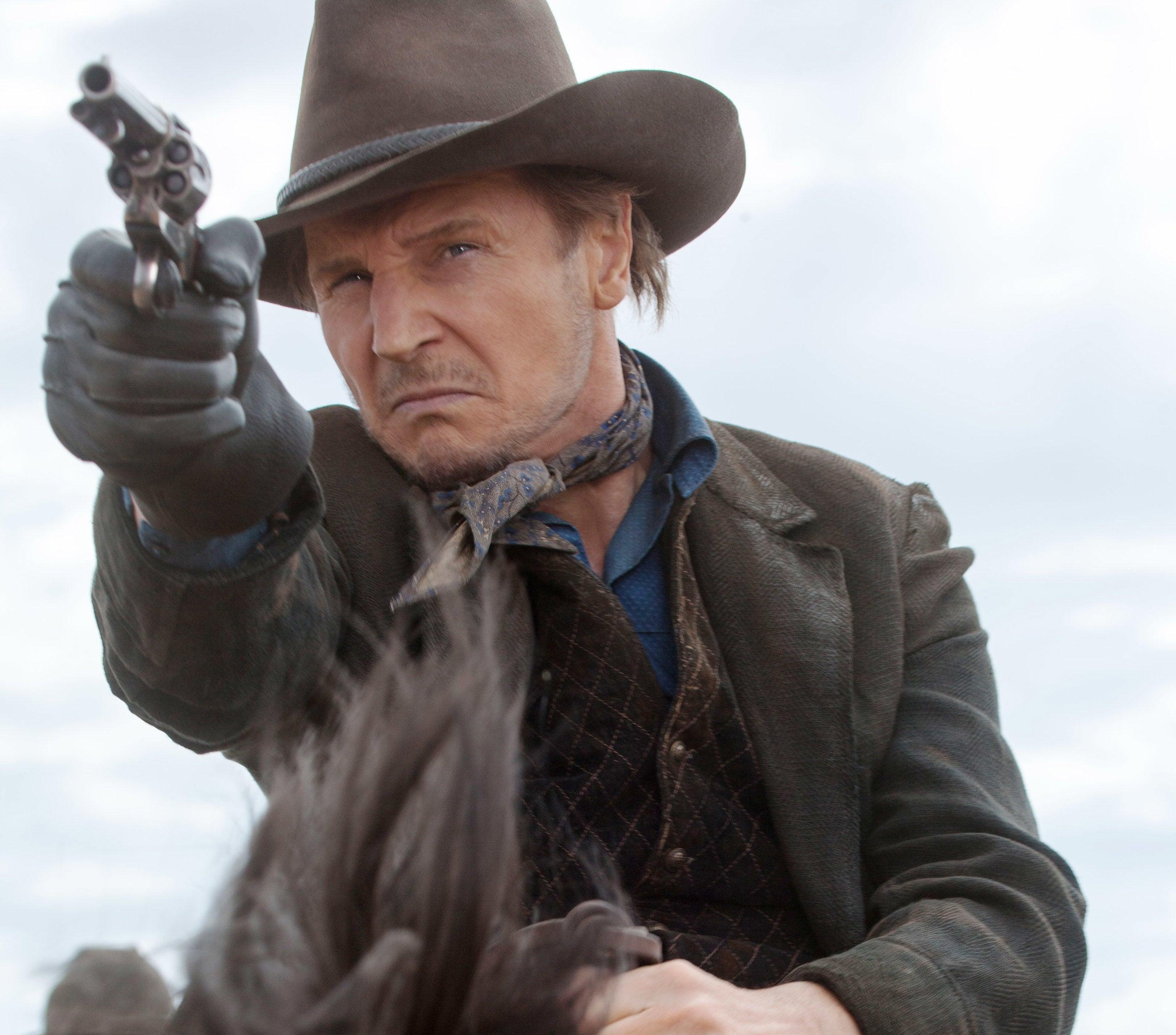 Neeson on horseback as the Irish outlaw