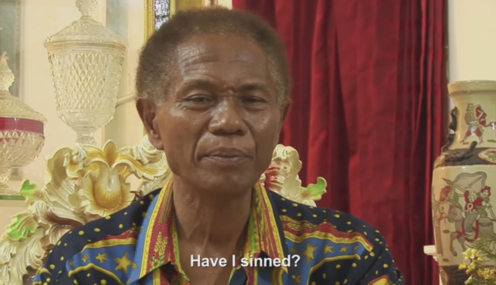 "Anwar Congo asking ""Have I sinned?"""