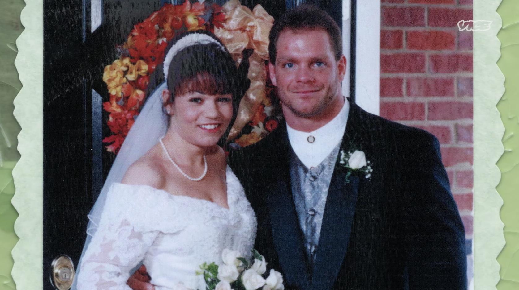 Chris and Nancy Benoit at their wedding