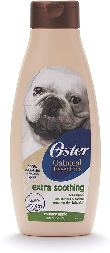 The bottle of the Extra Soothing shampoo