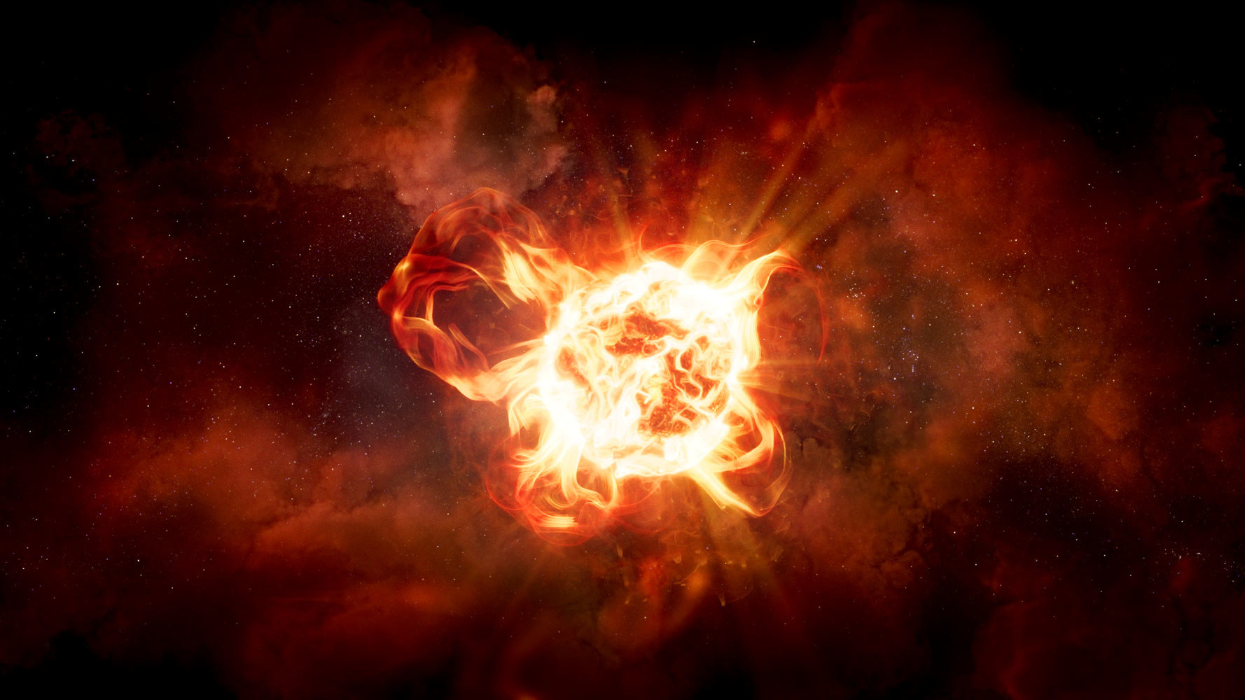 An artist's rendering of VY Canis Majoris