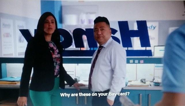 Shannon and Kimchee turn when Omar asks Shannon about her Bay card