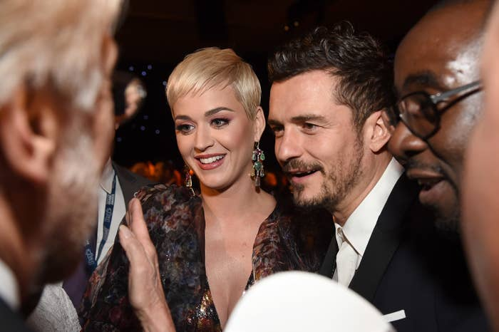 Katy Perry and Orlando Bloom attend MusiCares Person of the Year honoring Dolly Parton at Los Angeles Convention Center on February 8, 2019 in Los Angeles, California