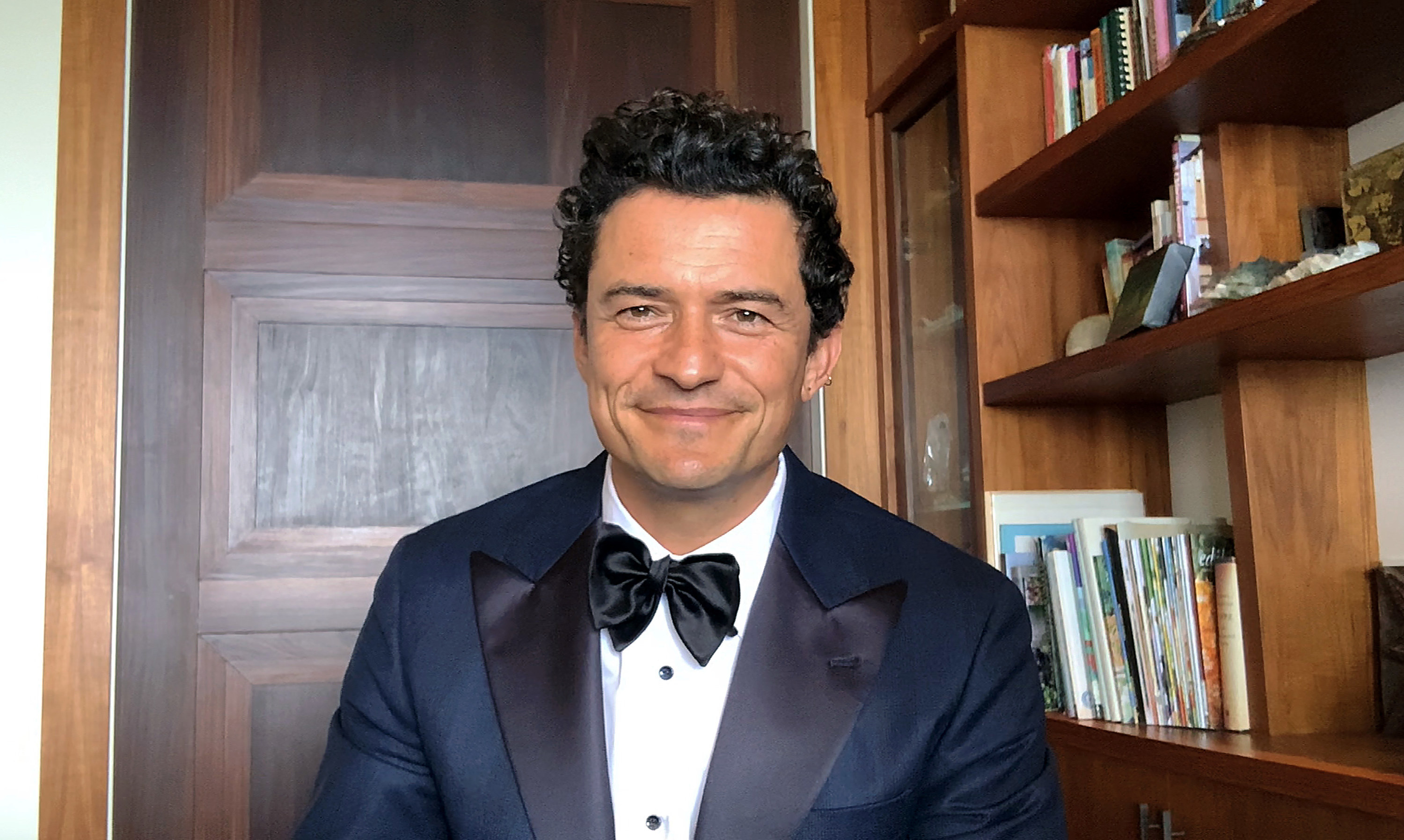 In this screengrab, Orlando Bloom speaks at the 26th Annual Critics Choice Awards on March 07, 2021