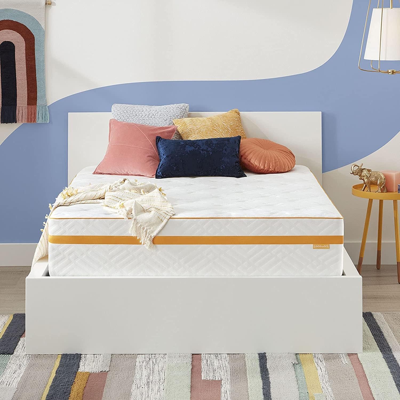 """A 12"""" hybrid gel memory foam mattress"""