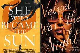 (左)书的封面为她变成了太阳;(右)天鹅绒的书封面是晚上